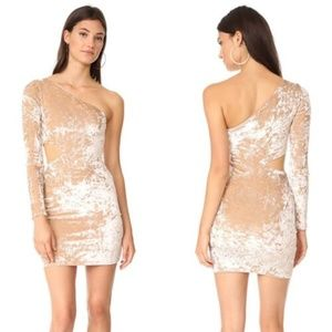 alice + olivia Malia Velvet Single SlV Mini Dress